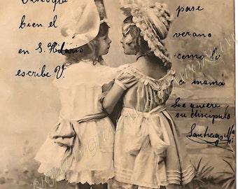 Friends in Spain  Instant Download Vintage Photo