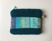 Wool Pouch with Sameheart Handwoven