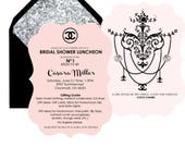 Reserved. Chanel invitation