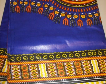 2 Yards Royal Blue color Non Texture dashiki fabric per panel/ Dashiki clothing/ Africa/ Angelina fabric/ Kitenge fabric/ Java print
