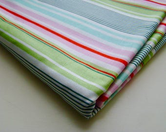 Heather Bailey Nicey Jane Slim Dandy Stripes Pink Fabric OOP FQ