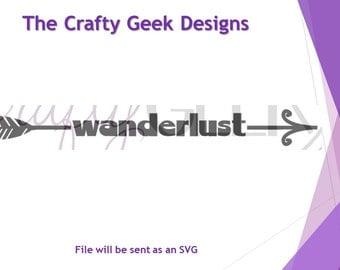 Wanderlust Arrow SVG File