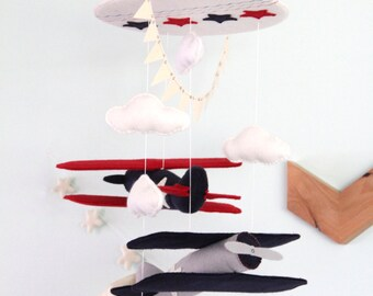 Airplane Baby Mobile / You Pick Colors / Airplane Mobile