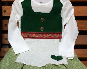 READY TO SHIP 24 Month dirndl (winter dress, folk dress, Oktoberfest dress)