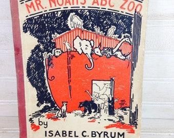 Vintage Noahs Ark ABC Zoo Picture Book