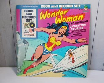 1977 Wonder Woman Book and Record Set D.C. Comics