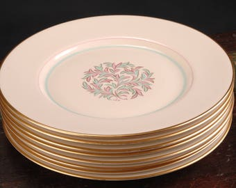 Franciscan China, Rossmore Bread and Butter Plates, Set of 8