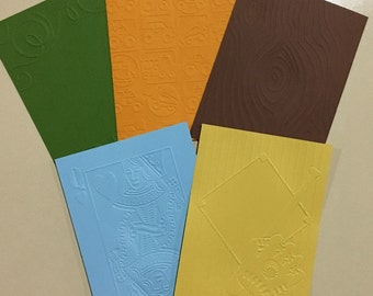 EMBOSSED CARDSTOCK 41/4 x 51/2 inches 5 pack Boys Pack 4