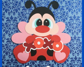 Lady Bug Love Bug  Embellishments Paper Piecing card making and scrapbooking
