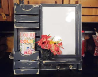 READY--TO--SHIP--Message Board--Dry erse Board--Mail holders--Mason Jar --Message Center