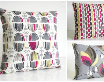 10x10 Decorative Pillow Cover, Pink Cushion Cover, Fuchsia Pillow Sham, Pillow slips, Pillow Sham - Fuchsia Collection