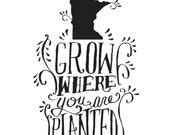 custom dishtowel-grow / planted no state or boarder