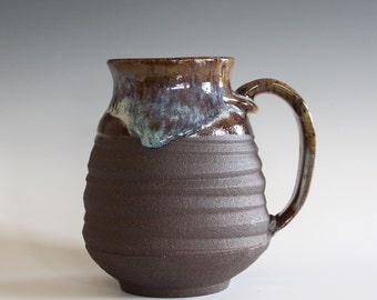 Pottery Coffee Mug, 22 oz, handmade ceramic cup, handthrown mug, stoneware mug, pottery mug, unique coffee mug, ceramics and pottery