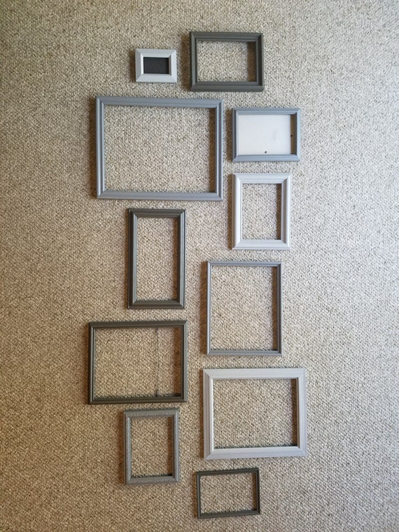 Gallery Frames In 3 Shades Of Gray With Glass And Backing