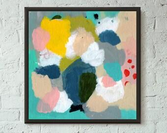 Don't Stop No. 4 of 9 // Modern Abstract Art Original 8x8 Mixed Media Acrylic Painting on Canvas Panel, Free US Shipping, Lisa Barbero