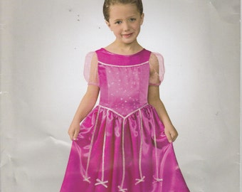 Princess Dress Pattern Costume Halloween Dress P Uncut Girl's Size 3, 4, 5, 6, 7, 8 Simplicity 0333