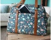Vivan bag - traveler - weekender bag - on the go bag - floral diaper bag - stripe diaper bag