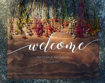 Handpainted Wooden Welcome Wedding Sign, Bohemian Wedding Sign, Outdoor Wedding, Rustic Wedding Decor Props