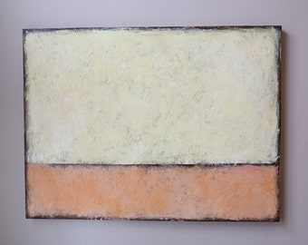 modean art,minimal abstract,Acrylic painting,modean ,Acrylic painting,apricot color,Light yellow, Ivory,large painting