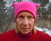 the Fleece Pussyhat ~ hot pink