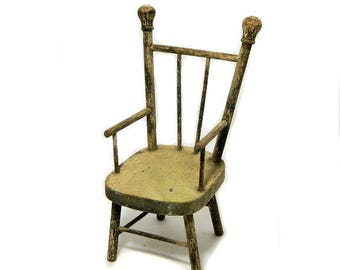 Antique Hand Made Primtive Wood Doll Chair