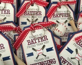 Baseball Favor Tags INSTANT DOWNLOAD by Beth Kruse Custom Creations