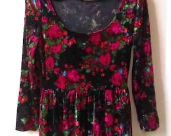 90's grunge velvet dress