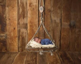 "Digital Backdrop- ""The Sailor's Seat""- Newborn Prop - Nautical"
