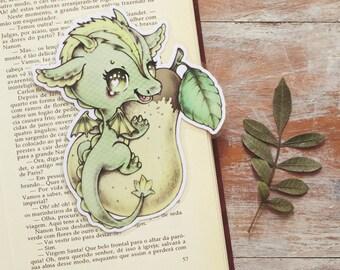 Vitamin Dragon - Pear - bookmark - made to order