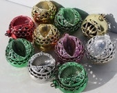 RESERVED FOR RICH-Vintage Plastic Christmas Ornaments Filigree Indent Shiny Unbreakable Bradford Assortment Christmas Mid Century Holiday