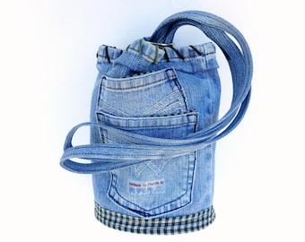 Denim Forever Primitive Sac, a Grab and Go Mini Bag by Vic Von Pip