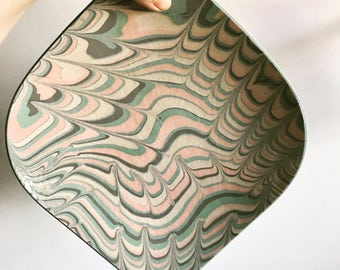 Boho Arabesque Numbered Pottery Plate