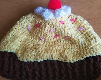 Cupcake beanie hat - Newborn size
