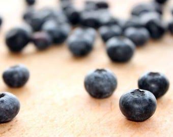 Blueberries Food Photography Digital Download Printable Art Gift Blueberry Print Fruit Kitchen