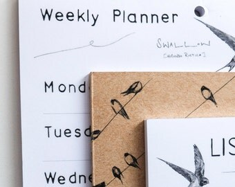 Summer Swallows Weekly Planner