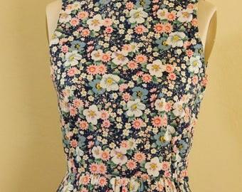 "Floral Cross Back Dress size Bust 34"""