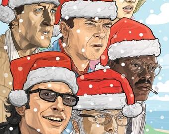 Jurassic Park Christmas card