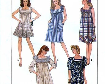 Simplicity 8613 Sewing Pattern for Misses' Loose-Fitting Pullover Dress - Uncut - Size X-Large