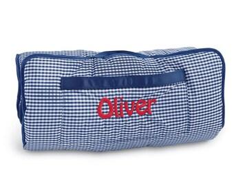 Monogrammed Nap mat, personalized nap mat, day care/ kindergarten nap mat, boy nap mat, girl nap mat, pink, blue