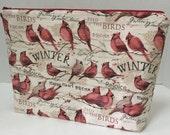 Winter Cardinal  - Bonus Large Zippy Poor Girl