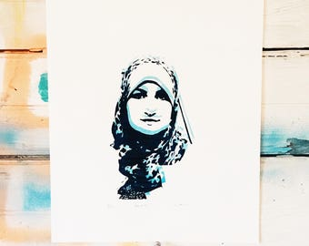 Women's March Co-Chair Linda Sarsour - Glow in the Dark hand pulled screen print
