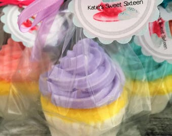 15 Large Cupcake Soap Favors: Sweet Sixteen Favors, Baby Shower Favors, Birthday Favors, Cupcake Favors, Wedding Favors, Cupcake Soaps