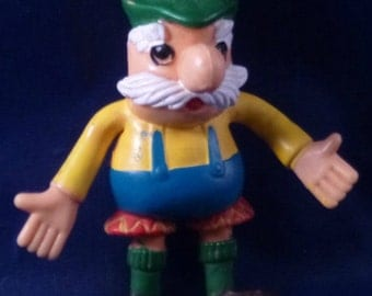 Hamburgermeister Vintage Jack in the Box Bendy Figure Toy, 1975