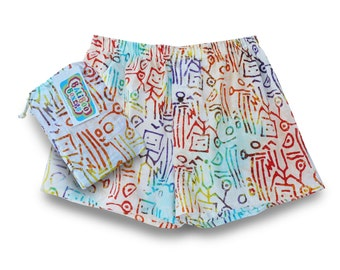 Colorful Funky Mens Boxers, Funky Mens Gift, Batik Boxer Short, Colorful Cotton Underwear, Gift Boxers Batik