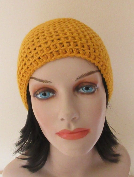 Gold Slouchy Hat Gold Saggy Hat Gold Crochet Slouchy Hat Cold Weather Accessory