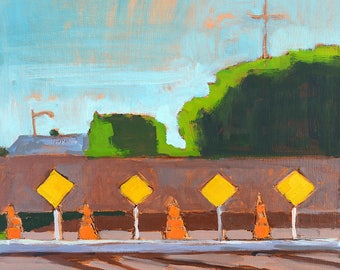 Santa Maria, Santa Ynez Valley California landscape painting