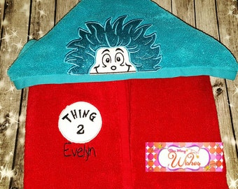 Thing 1 ... Thing 2 ... Dr. SEUSS Towel