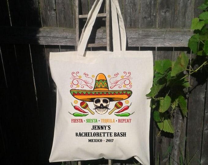 Mexico Bachelorette Party, Sombrero Fiesta, Siesta, Tequila,Repeat - Day of the Dead Bachelorette