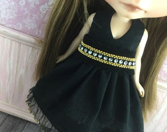 Blythe Party Dress - Little Black Dress with Belt