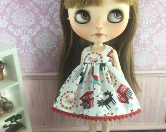 Blythe Dress - Little Red Riding Hood